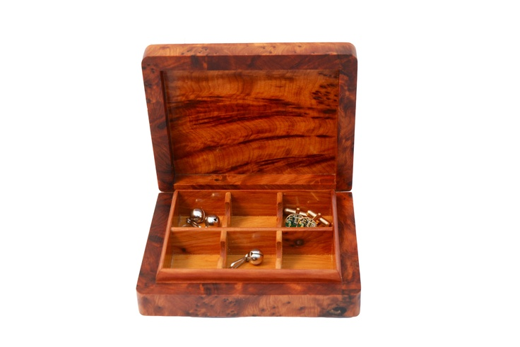 Cufflink box by Atlas (London) Ltd, £34.  Every Sat/Sun at Greenwich Market.