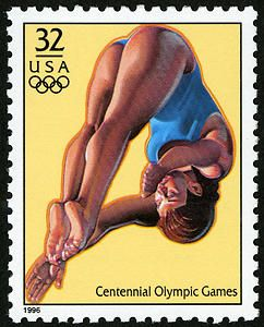 Women's Diving was also honored with a stamp in the 1996 Summer Olympic Games Issue.