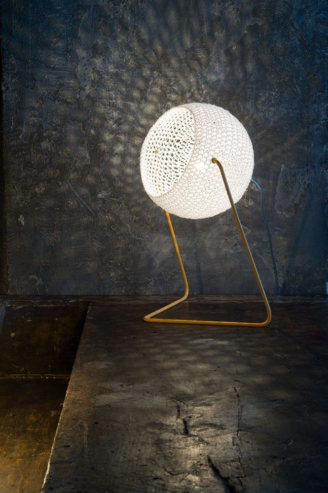 Wool table #lamp TRAMA 1 by In-es.artdesign #light #tricot @In-es.artdesign