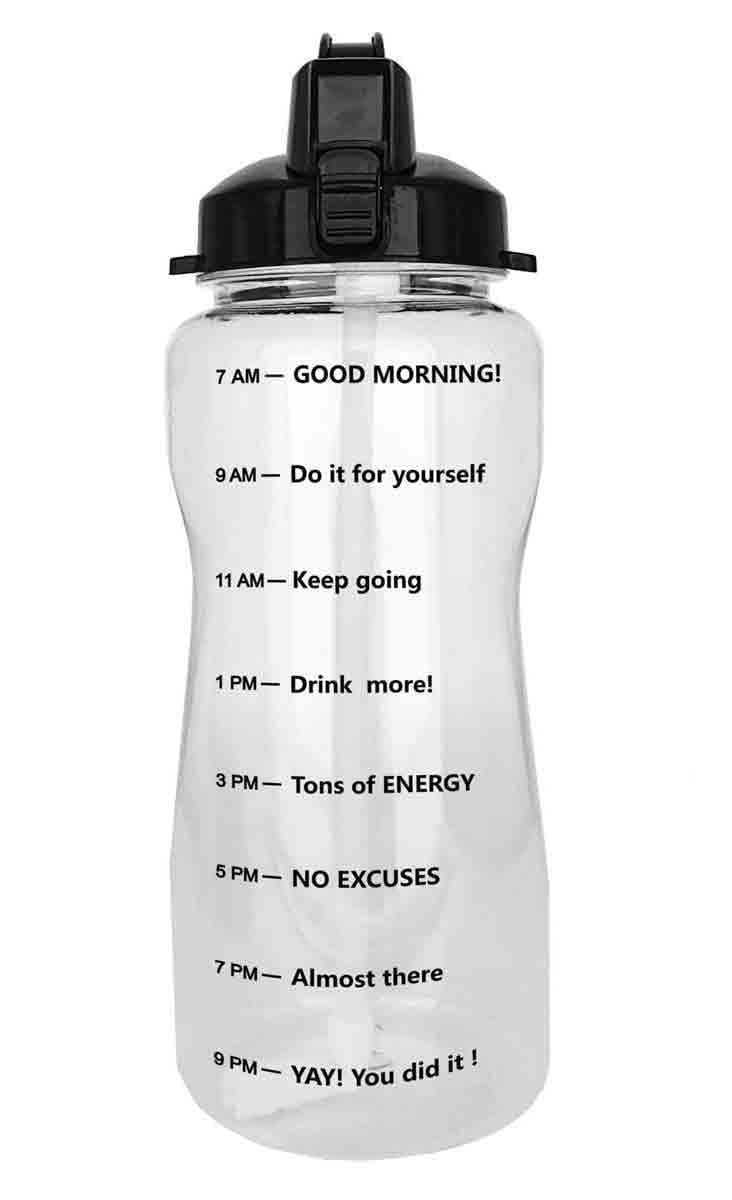 Quifit Daily 64 Ounce Water Bottle 64 Ounce Water Bottle Water Bottle Motivational Water Bottle