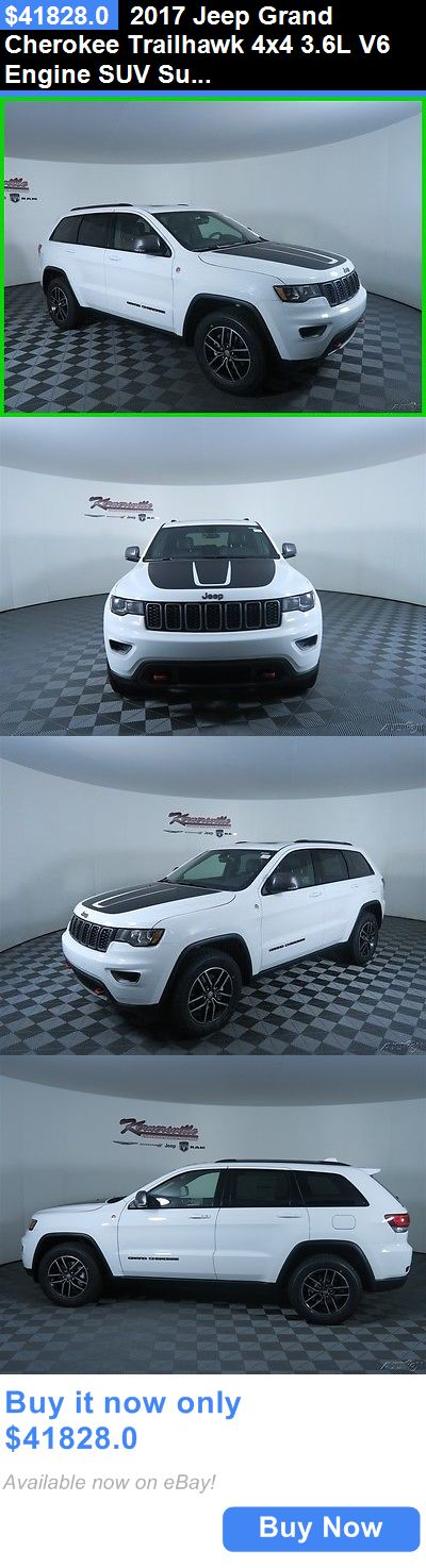 SUVs: 2017 Jeep Grand Cherokee Trailhawk 4X4 3.6L V6 Engine Suv Sunroof Leather Easy Financing! New White 2017 Jeep Grand Cherokee Trailhawk Suv 4Wd 3.6L V6 BUY IT NOW ONLY: $41828.0