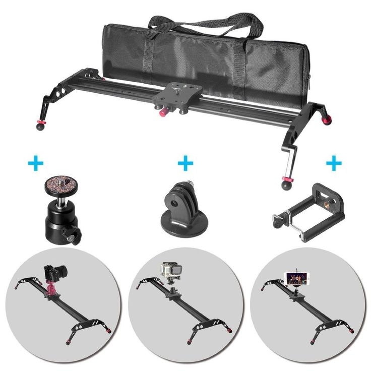 Fomito 60cm Video Slider 24 inch Ball Bearing Video Camera Slider Pro Dslr Camera Slider