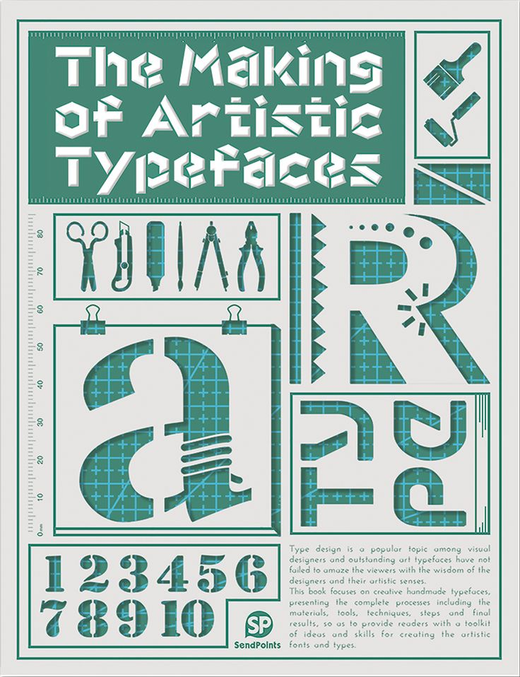 The Making of Artistic Typefaces bog fra Viking og Creas