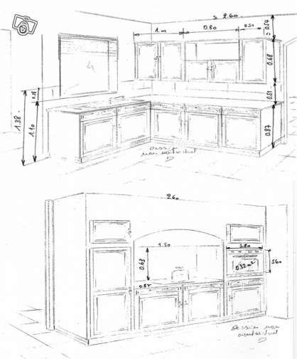 Hauteur standard meuble cuisine maison design for Meuble cuisine standard