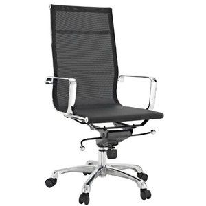 LexMod Regis All-Black Mesh High Back Conference Office Chair