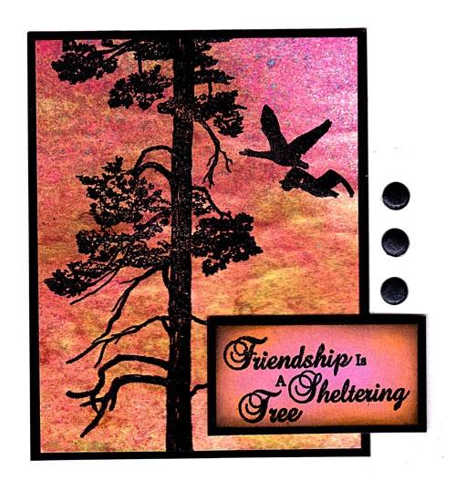 Sheltering-Tree-friendship -- love these colours ..... Sheena Douglass