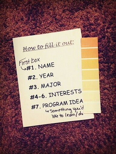 Ice breaker for my first floor meeting!! Have the residents take one and fill it out accordingly. Then, have them find their same color groups and introduce themselves :) great results for me!