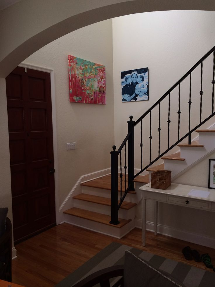 redo stairs basement steps stair landing basements railings reno villa