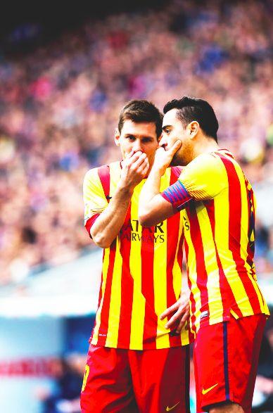 Leo Messi & Xavi