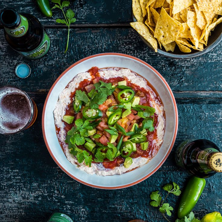 Smoked Cheese Nacho Dip - Super Bowl Recipes #FWx