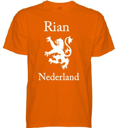 Kijk, mijn eigen ontwerp voor Rian. Mooi oranje voor koningsdag.