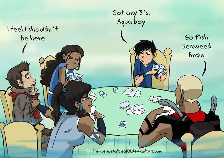 Go Fish by lostatsea101.deviantart.com on @deviantART Avatar Legend of Korra Young Justice Percy Jackson