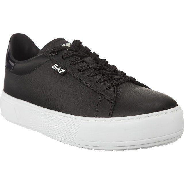 Trampki Damskie Ea7emporioarmani Ea7 Emporio Armani Czarne Unisex Pelle Sneaker 2480057a299 00020 Sneakers Emporio Armani Shoes