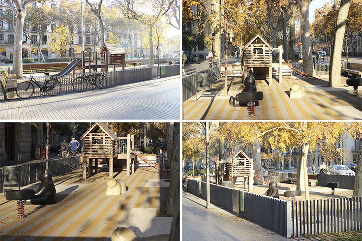Bdu - Passeig de Sant Joan, Barcelona #bdu #juegos #juegosinfantiles #barcelona #niños #proyectos