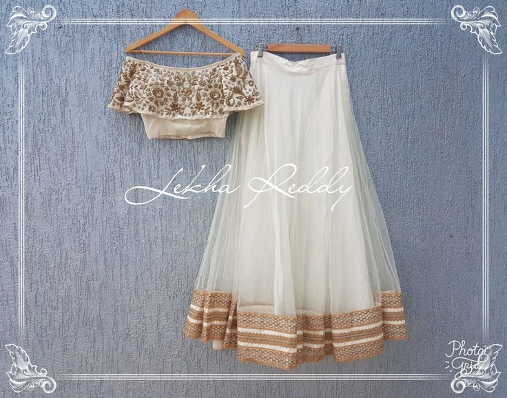 Our most favorite and classic ivory off shoulder crop top and lehanga...!!!Dress Code : LR-LG50Email:lekhareddydesigns@gmail.comWhatsapp: +91 8790797505 . 23 July 2017
