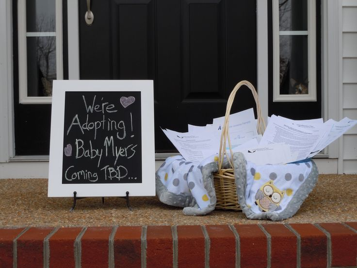 Our adoption announcement.-- Too funny with all the paper work! I'd totally do this :)