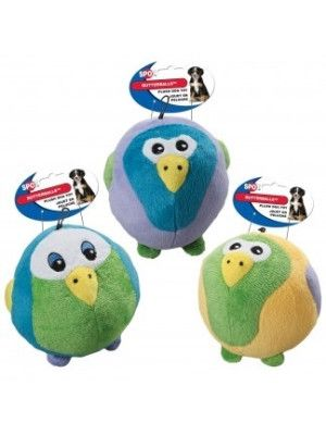 """DOG TOYS - PLUSH - BUTTERBALL TROPICAL BIRD ASSORTED - 4"""" - ETHICAL PRODUCTS - UPC: 77234041468 - DEPT: DOG PRODUCTS"""