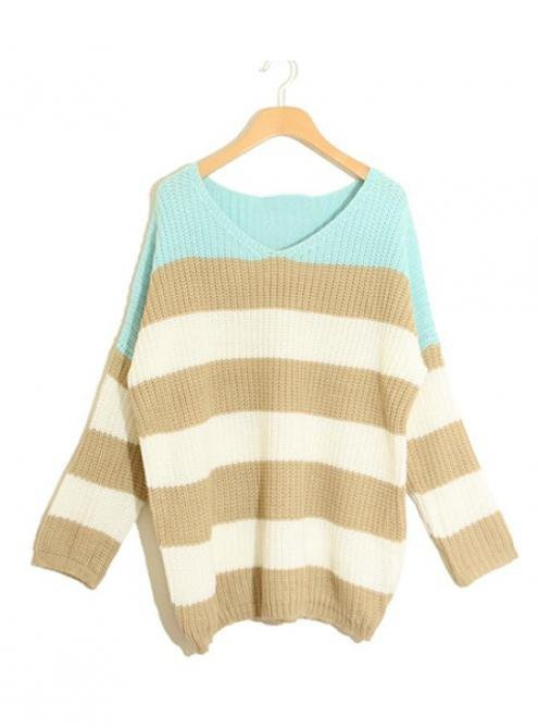 comfyLong Sleeve Sweaters, Fashion, Style, Clothing, Long Sweaters, Green Stripes, Stripes Matching, Knits Sweaters, Matching Colors