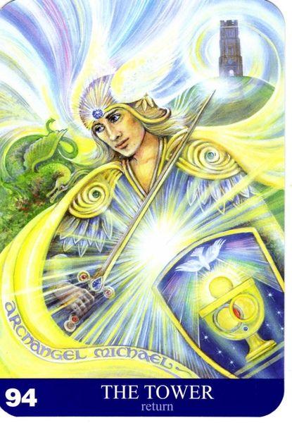 94 - La tour (retour) - New Aura Soma Tarot