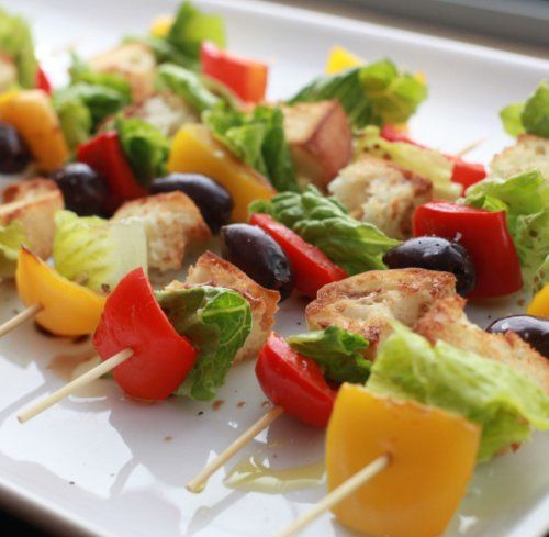 Salad on a stick. Innovative. Cool. Yum. | Salads | Pinterest | Salads ...