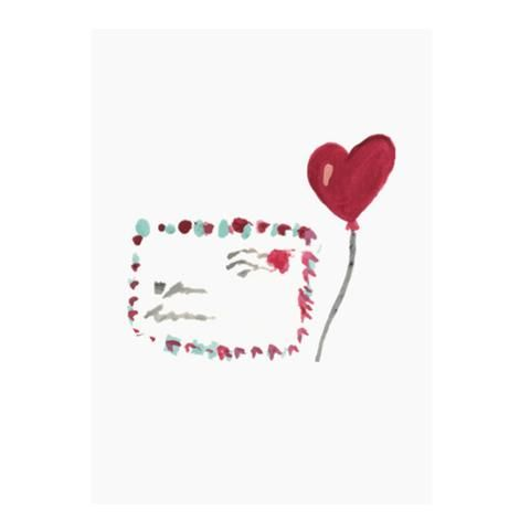 Love letter greeting card by NUNUCO® #nunucodesign