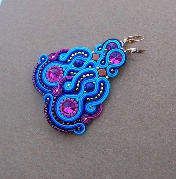 Oriental Colorful Earings Dangle Earrings Colorful by StudioGianna