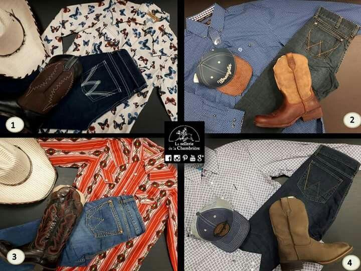 Quelques kits western pour vous mesdames et pour vous messieurs ! Lequel préférez-vous : 1, 2, 3 ou 4 ? C'est à vous !