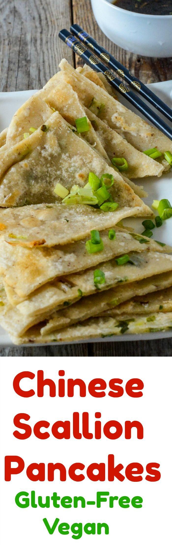 Chinese Scallion Pancakes Gluten-Free, Vegan