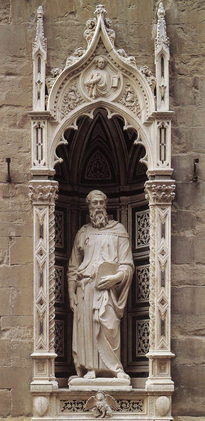 Saint Mark. Donatello. 1411. the church of Orsanmichele