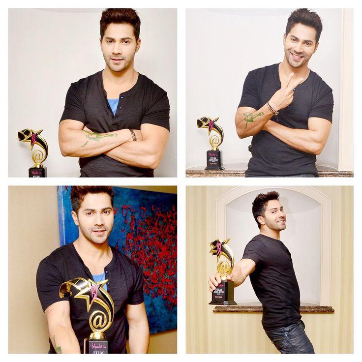 Selfie King @Varun_dvn strikes many poses for #BollywoodLifeAwards
