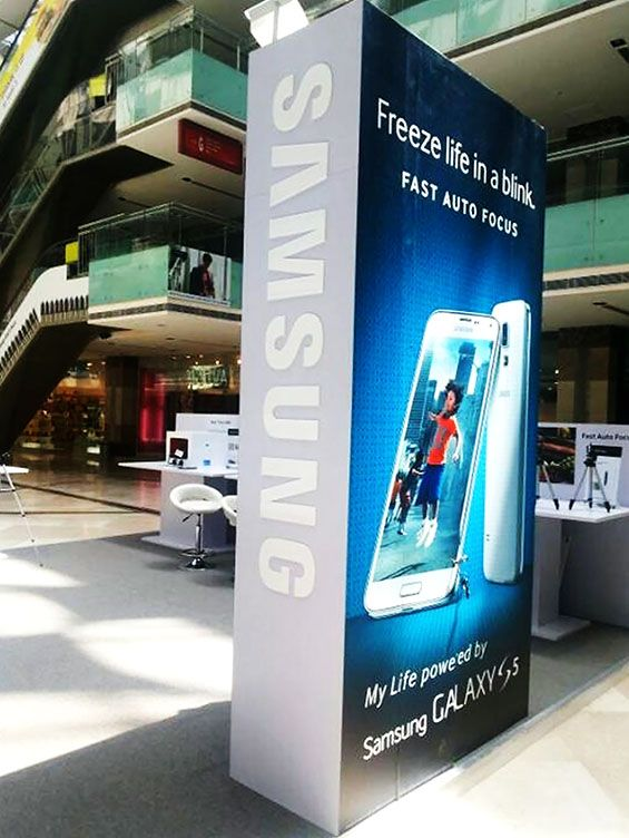 Brand Activation for Samsung S5 launch all over India. Know about our full range of Exhibiting services http://www.expodisplayservice.ae/Index.aspx