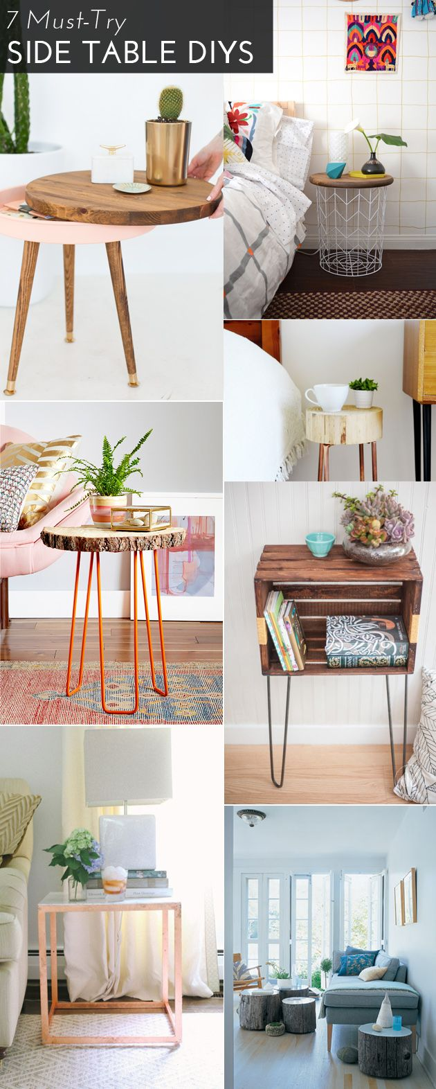 7 Must-Try Side Table DIYS                                                                                                                                                                                 Mehr