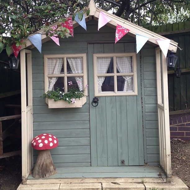 Lovely pretty garden shed / summer house Photo by mrs_button on Instragram                                                                                                                                                     More