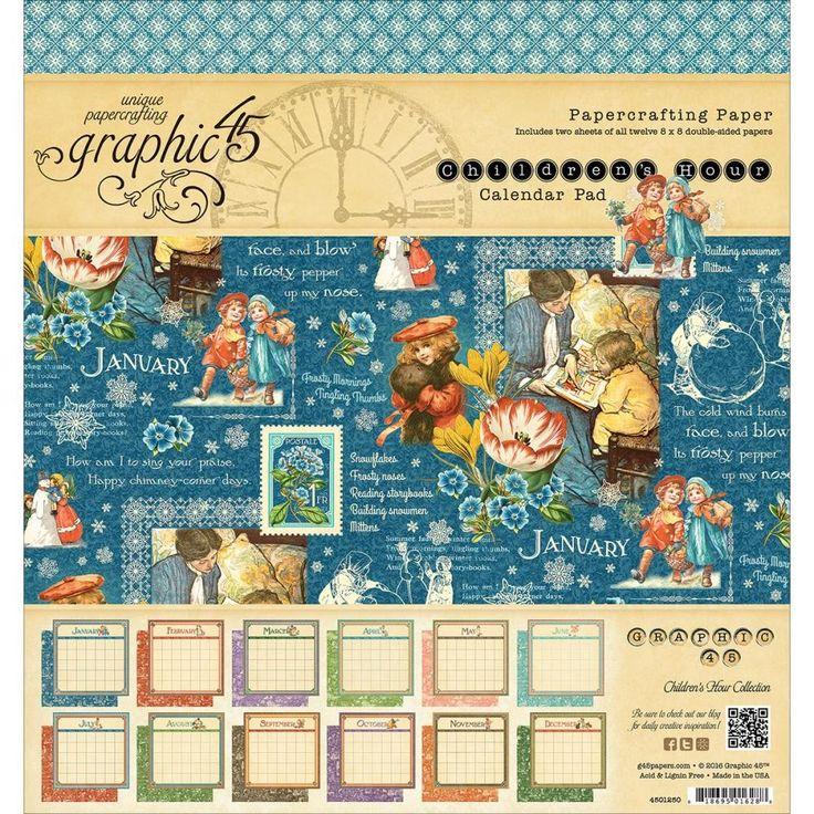 Children's Hour 8 x 8 inch Calendar Paper Pad.