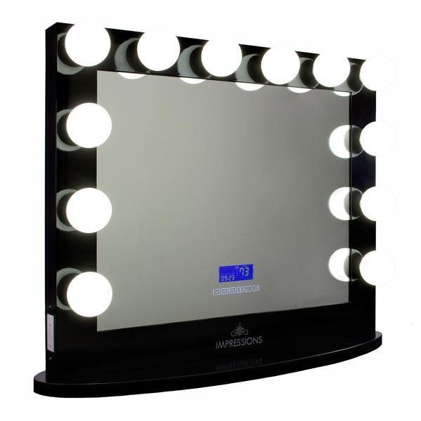 Our Impressions Vanity Hollywood Iconic™ Plus BT Vanity Mirror with Bluetooth Speakers comes through with an all-new digital screen and Bluetooth for...