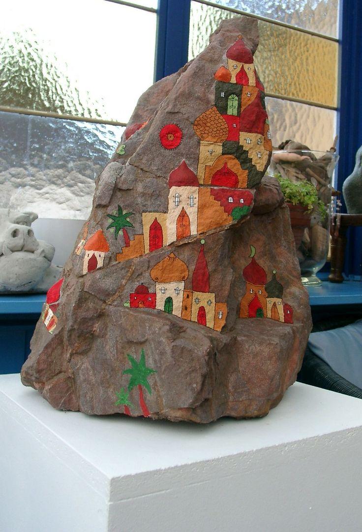 bemalte Steine, rock painting, stone painting, glücksteine, DIY, Anleitung steine bemalen, Engel, Schutzengel, Sonne, Stone drawing, Stone art,