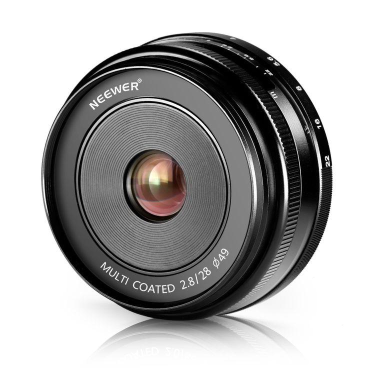 Neewer® 28mm f/2,8 Objectif Fixé Focus Manuelle pour OLYMPUS et PANASONIC APS-C Appareil Photo Numérique, Tel que OLYMPUS: E-M1/M5/M10, E-P5E-PL3/PL5/PL6/PL7, PANASONIC: GM1/2, GX1/2/7/8, GF5/6/7: Amazon.fr: Photo & Caméscopes