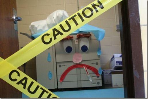 The copier is quarantined