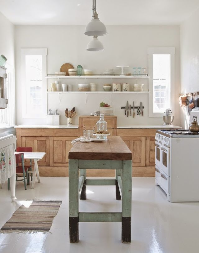 And Airy Kitchen That 39 S Less Shabby Chic And More Rustic And Modern