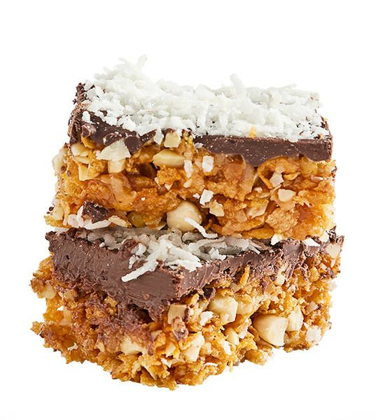 Chocolate, almond and coconut bars recipe  - Better Homes and Gardens - Yahoo!7