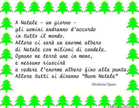 Biglietto auguri con albero filastrocche e poesie - Contorno di un albero di natale ...