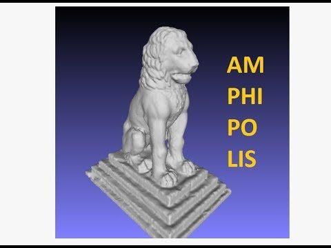 LION_of_AMPHIPOLIS MESH Creation. PHOTOGRAMMETRY & 3D_PRINTING.