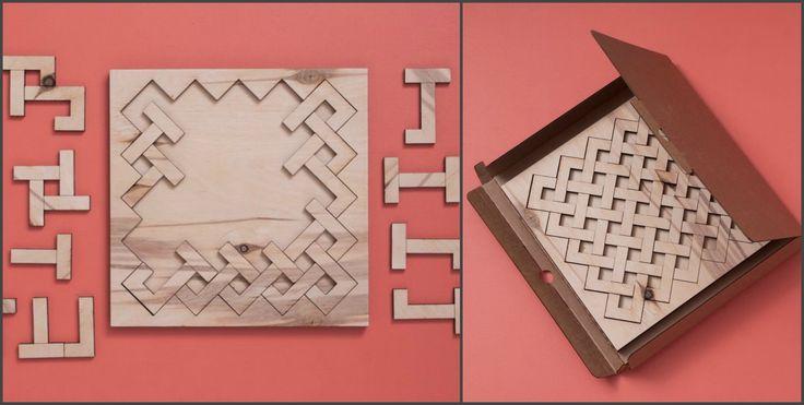 Предлагаем интересное занятие для всех - хардпазл из дерева Ручная работа из очень качественного материала!
