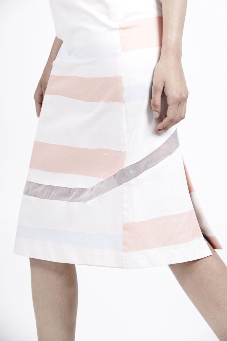 "Theorem skirt print.  Kuwaii SS 14/15 ""Rationale"" Collection. Image by Daniel Gurten. Hair/Make-up by Deborah Brider. Modeled by Jade @ IMG."