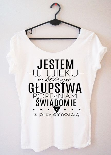 Koszulka damska jestem w wieku, w którym głupstwa - PinkCat24 - Koszulki i bluzy