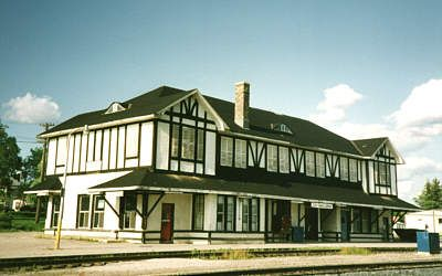 This is where I was born...Sioux Lookout, Ontario...picture of CNR Station.