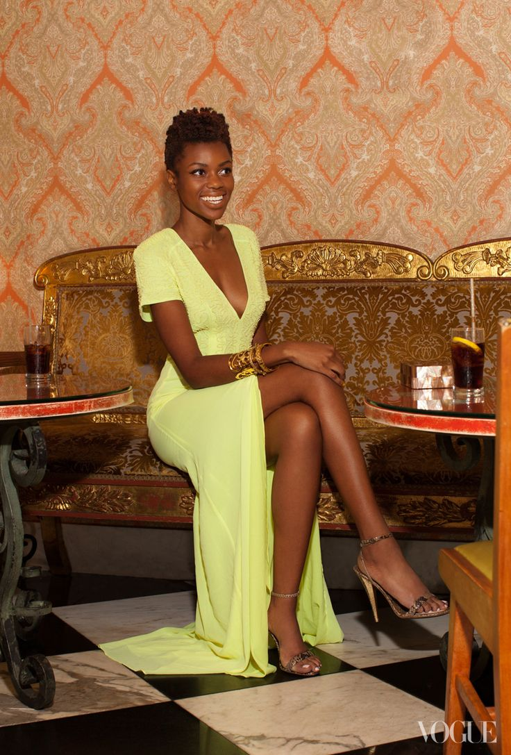 stunning dress accessories and skin: Yellow Dresses, Natural Beautiful, Color, Photos Shoots, Natural Hair, The Dresses, Simon Tetteh, Black Girls, Green Dresses