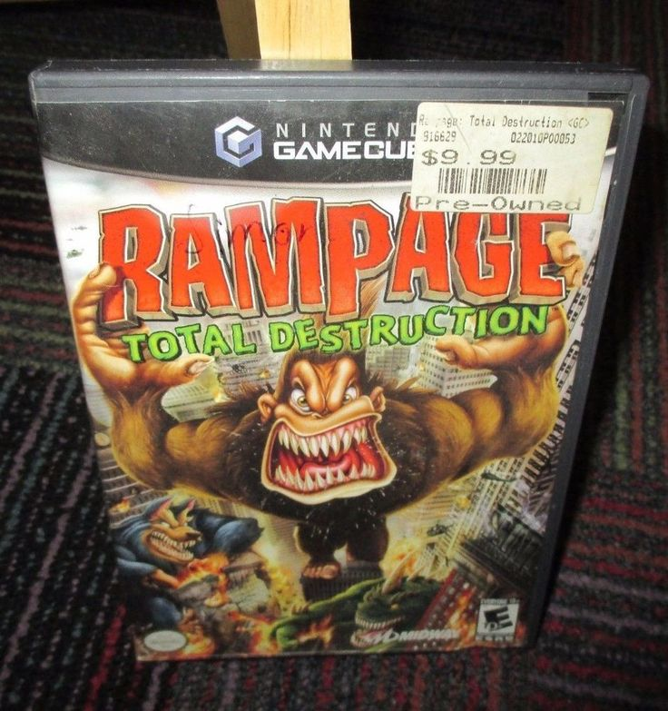 RAMPAGE TOTAL DESTRUCTION GAME FOR GAMECUBE / WII, CASE & GAME DISC, GUC