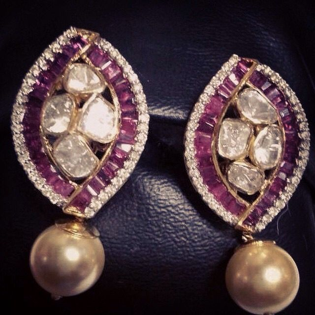 #diamond#pearl#ruby#earring
