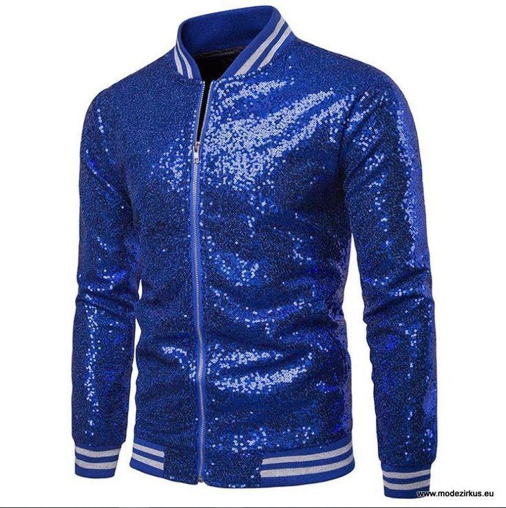 92191938403d9c Herren Übergangs Jacke in Glitzer Blau  mode  mode2019  fashion  herren   herrenmode